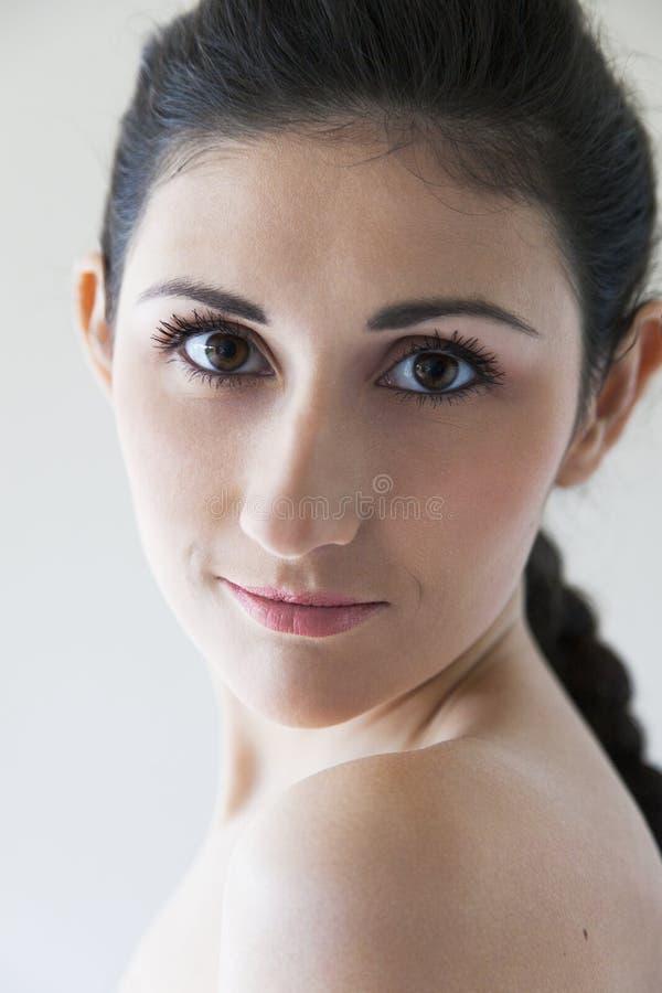piękna portreta kobiety potomstwa zdjęcie royalty free
