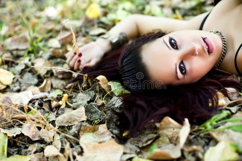 piękna portreta redhair kobieta obrazy royalty free