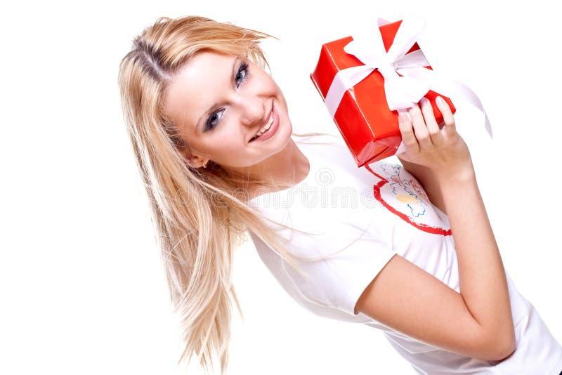 piękna prezenta wakacje kobieta zdjęcie royalty free
