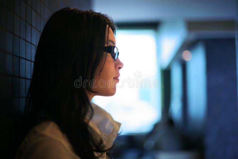 piękna profilowa kobieta zdjęcie stock