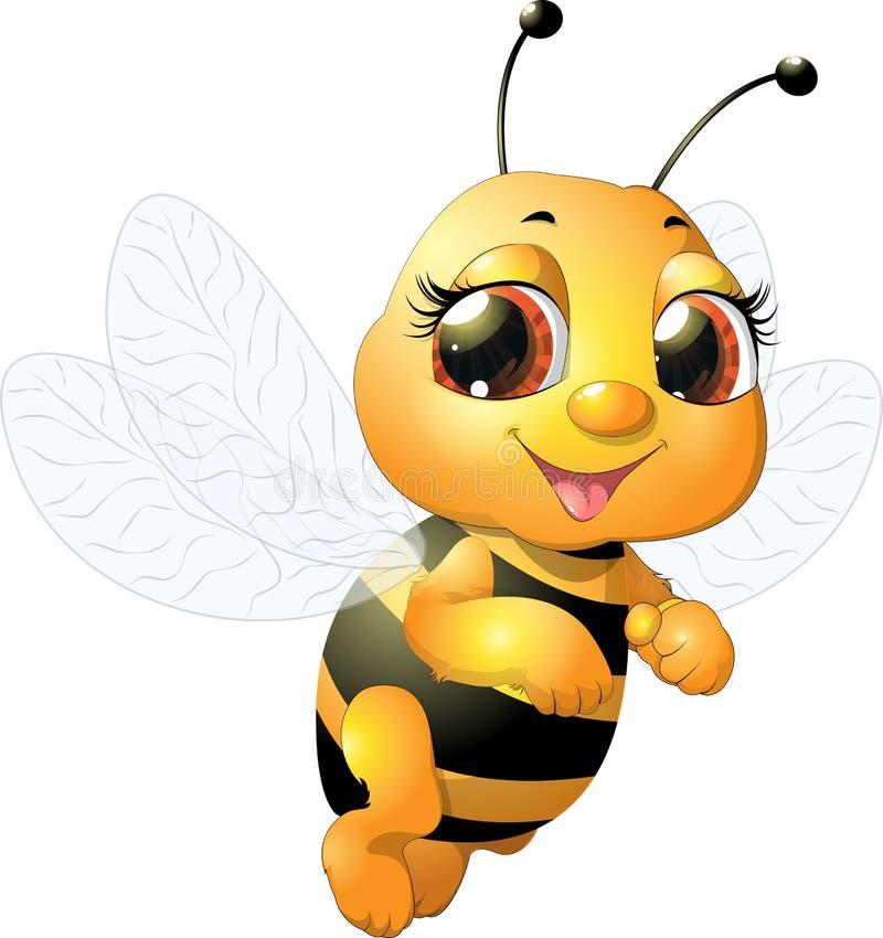 piękna pszczoła royalty ilustracja