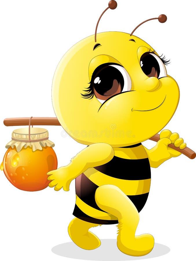 piękna pszczoła ilustracja wektor