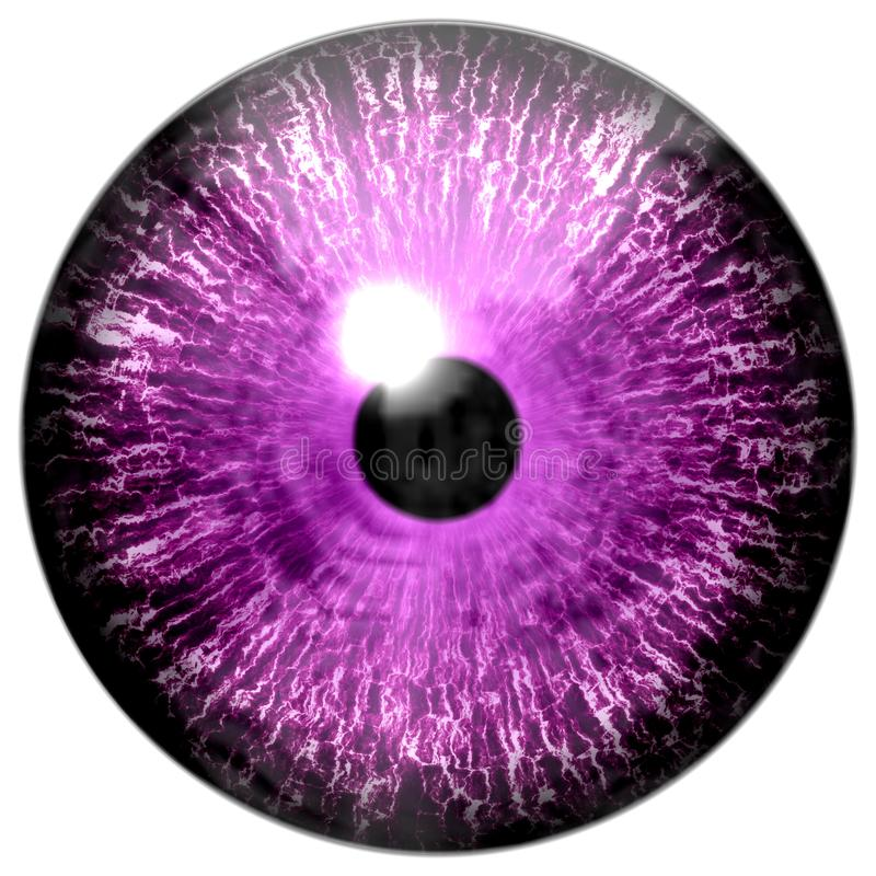 Piękna purpur 3d Halloween gałka oczna ilustracja wektor
