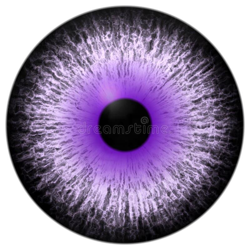 Piękna purpurowa biała czerni 3d Halloween gałka oczna ilustracji