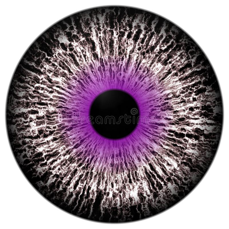 Piękna purpurowa round i biała oka 3d Halloween gałka oczna ilustracja wektor