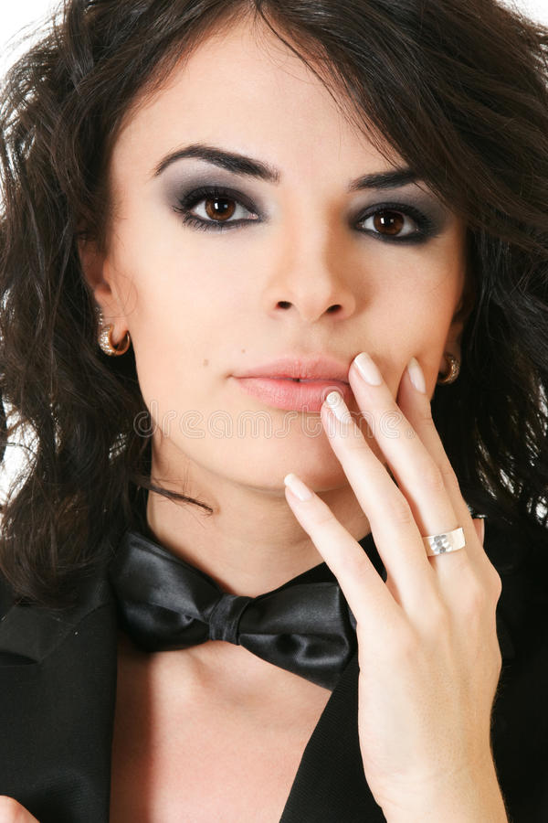 piękna ręki portreta kobieta zdjęcia stock