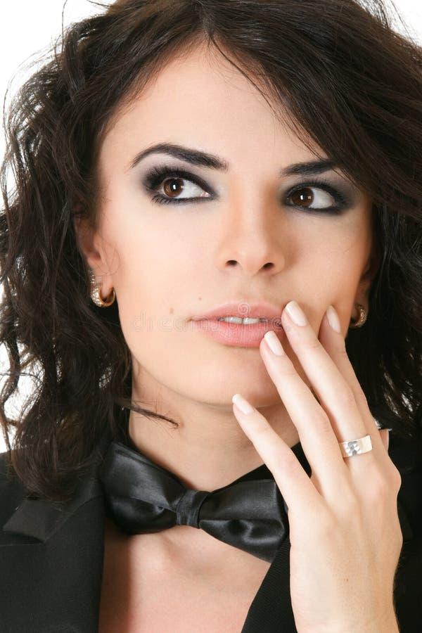 piękna ręki portreta kobieta fotografia royalty free