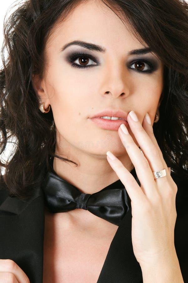 piękna ręki portreta kobieta zdjęcie stock