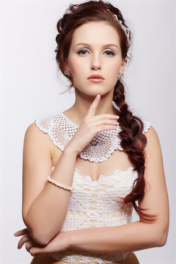 Piękna retro dziewczyna zdjęcia stock