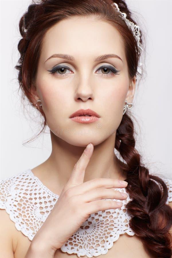 Piękna retro dziewczyna zdjęcie royalty free