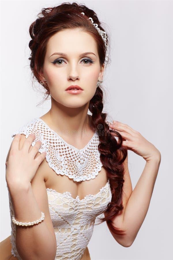 Piękna retro dziewczyna zdjęcie stock