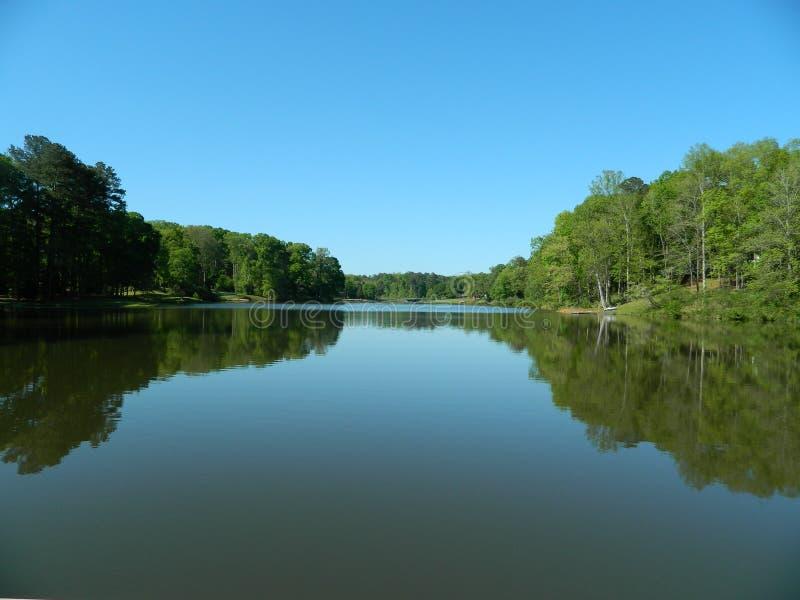piękna rybaka jeziora krajobrazu natury miejsca cisza obrazy stock