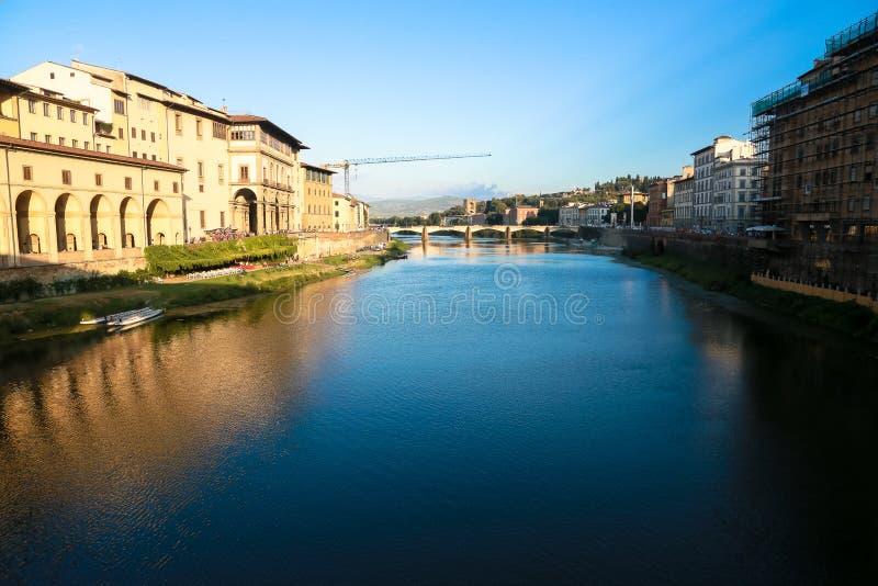 Piękna rzeka w Firenze zdjęcie stock