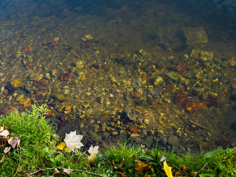 Piękna rzeka z drenażem obrazy stock