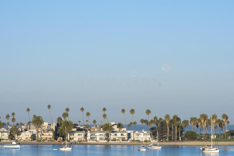 Piękna San Diego plaża z kopii przestrzenią w niebie fotografia stock