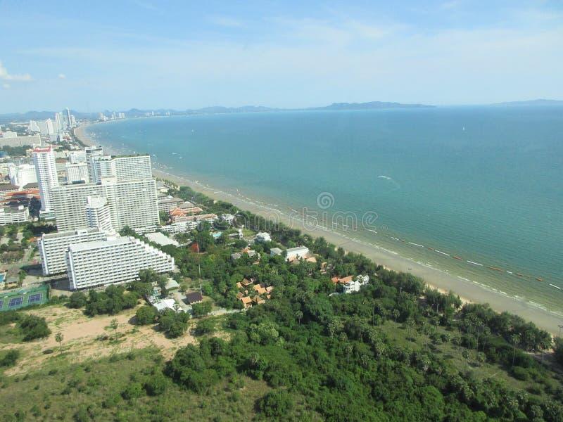 Piękna scena od Pattaya wierza oceanu fotografia stock