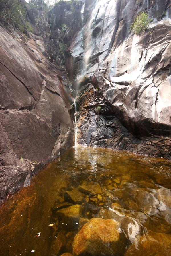 Piękna sceneria Apong Jatuh siklawa przy Gunung Ledang obraz stock