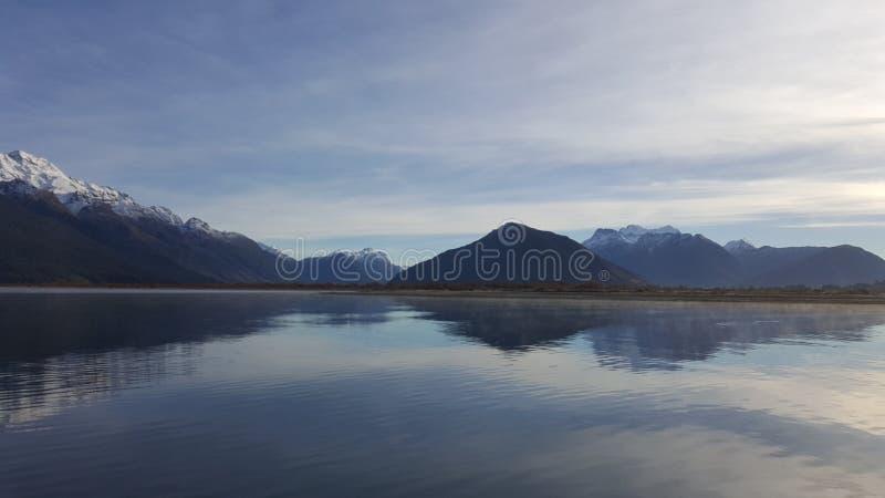 Piękna sceneria brać od Glenorchy obraz stock