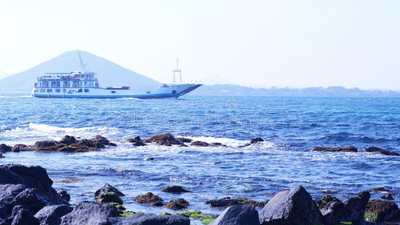Piękna sceneria Jeju wyspa w Korea zdjęcia stock