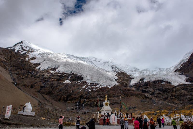 Piękna sceneria: Podróżować w Tybet obrazy stock