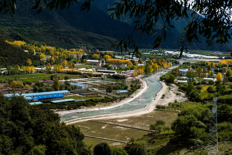 Piękna sceneria: Podróżować w Tybet fotografia stock