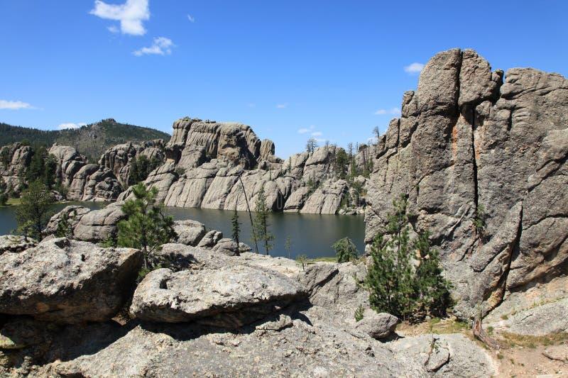 Piękna sceneria przy Sylvan jeziorem zdjęcia stock