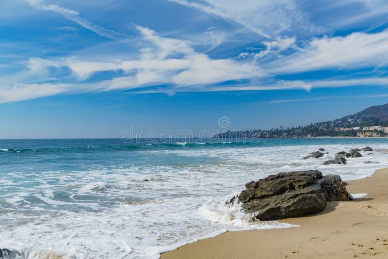 Piękna sceneria wokoło laguna beach obrazy royalty free