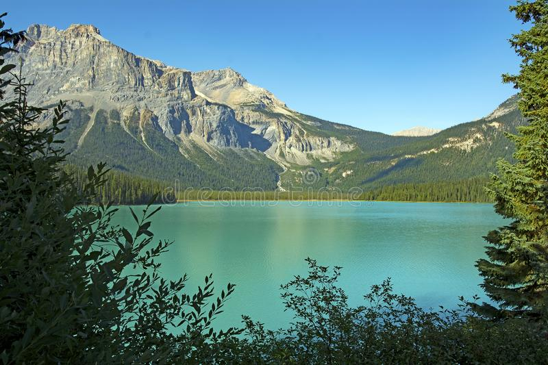 Piękna sceneria z jeziorem i górą fotografia royalty free