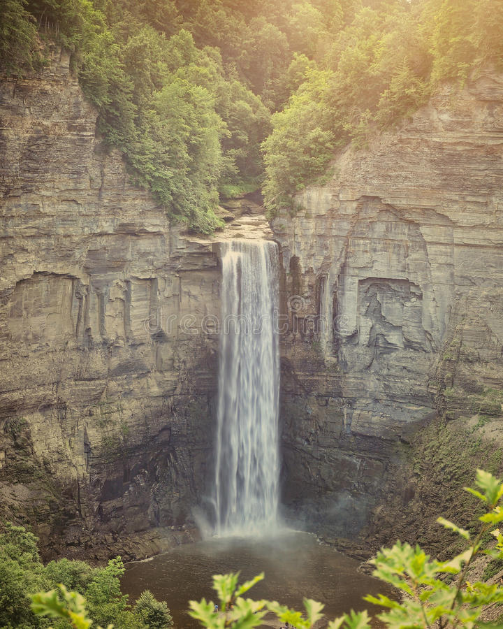Piękna siklawa Taughannock Spada w NY Upstate obrazy royalty free