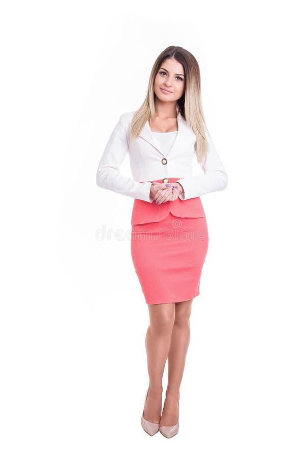 Piękna silna i pomyślna biznesowa kobieta zdjęcia royalty free