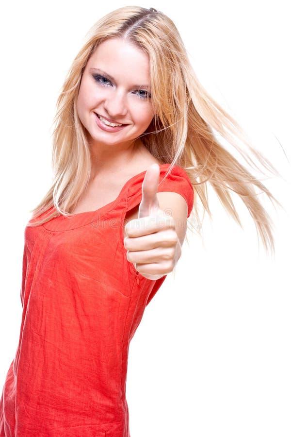 piękna smokingowa czerwona kobieta fotografia stock