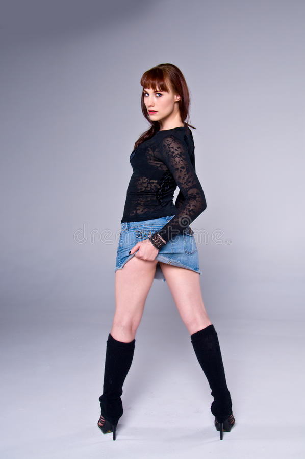 piękna spódnicowa kobieta obraz stock