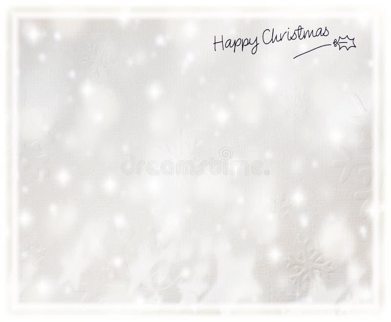 Piękna srebna Kartka bożonarodzeniowa zdjęcie royalty free