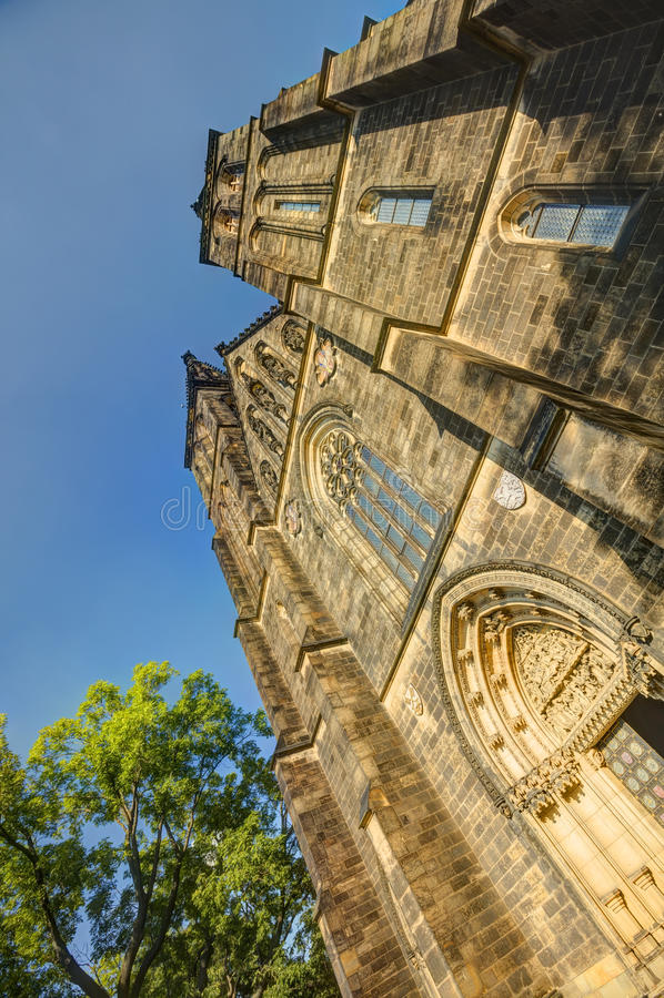 Piękna stara bazylika święty Peter i Saint Paul, Vysehrad, Praga, republika czech fotografia royalty free