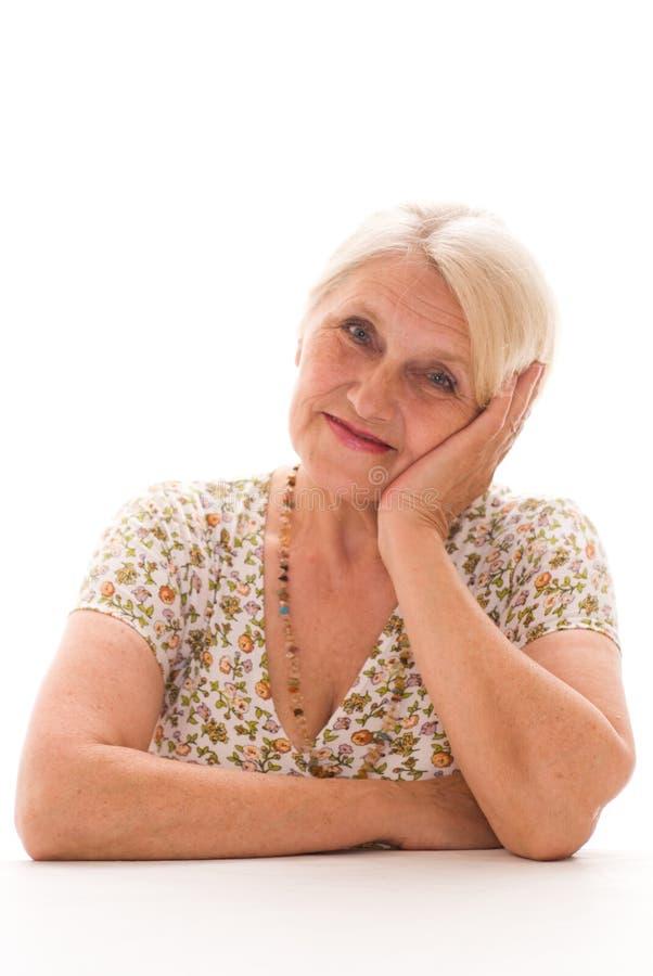 Piękna stara kobieta zdjęcie stock