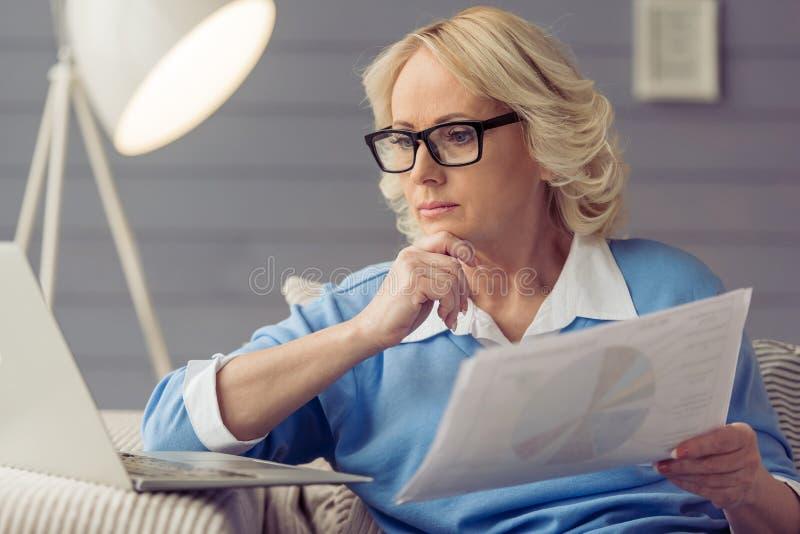 piękna stara kobieta obraz stock