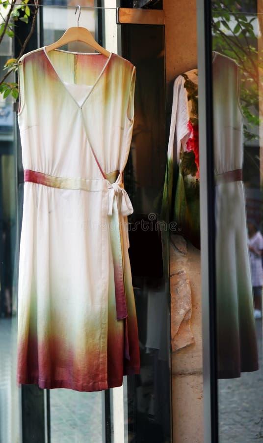 piękna sukienka jedwab. obrazy royalty free