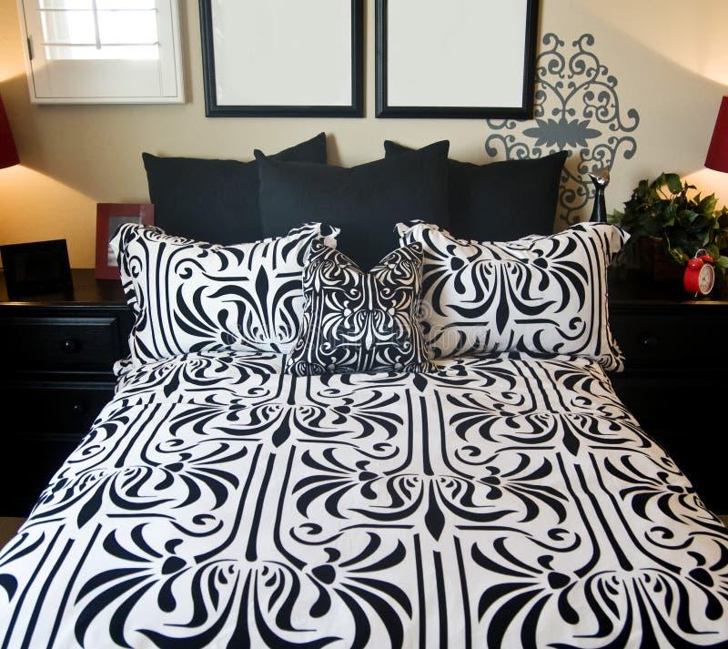 piękna sypialnia projektu wnętrze obraz royalty free