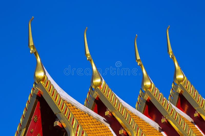 Piękna sztuka świątynny dach zdjęcia stock