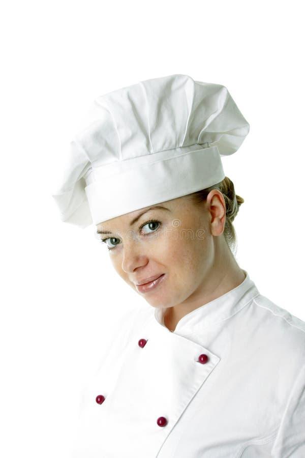 piękna tła kucharz nad białą kobietą fotografia royalty free
