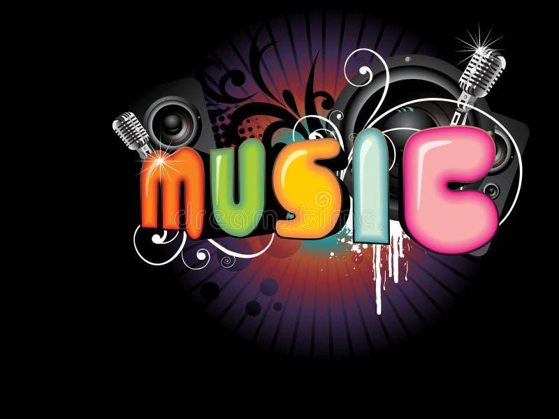 piękna tło muzyka ilustracji