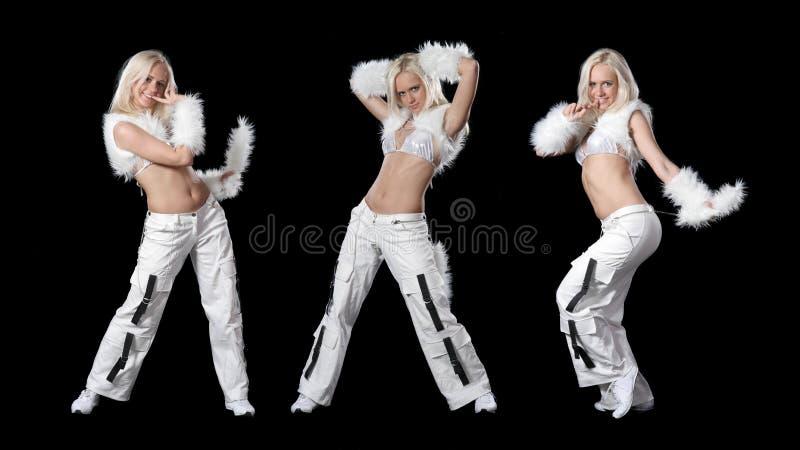 piękna tańcząca dziewczyna zdjęcia stock