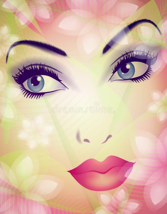 piękna twarz charakteru wiosna royalty ilustracja