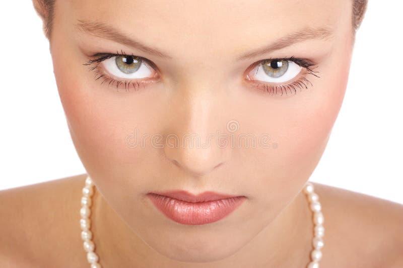 piękna twarz kobiety obraz stock