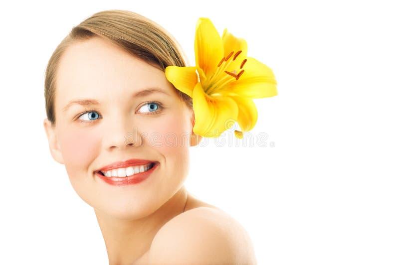 piękna twarz portret kobiety fotografia royalty free