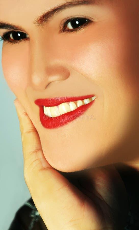 piękna twarz uśmiech fotografia stock