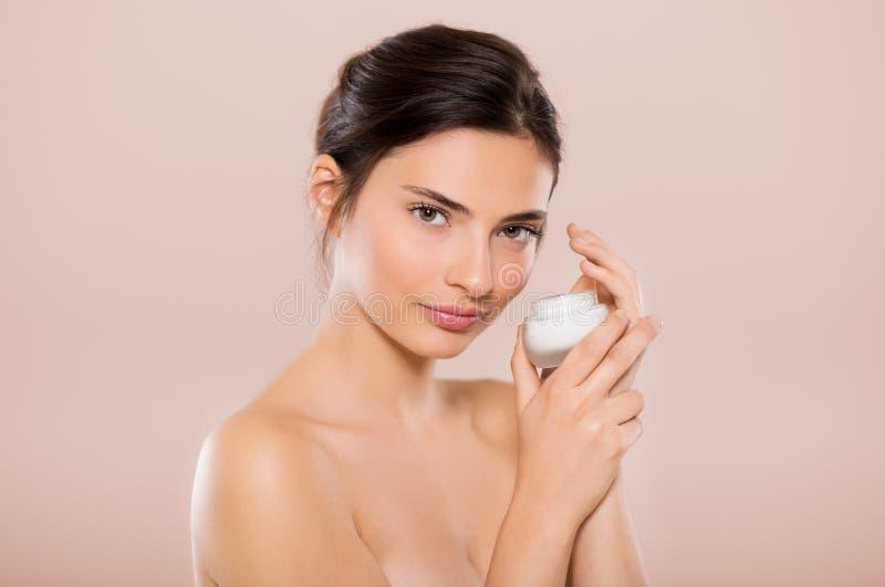 Piękna twarzowy moisturizer zdjęcie stock