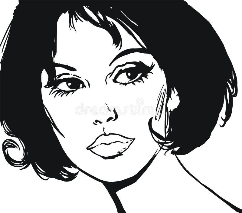 piękna twarzy ilustraci kobieta royalty ilustracja