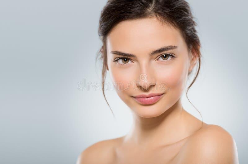 piękna twarzy moda uzupełniająca kobieta fotografia royalty free