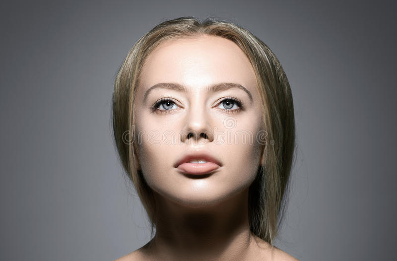 piękna twarzy moda uzupełniająca kobieta zdjęcia royalty free